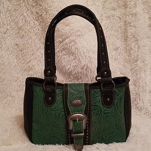 Black and Green Western Purse